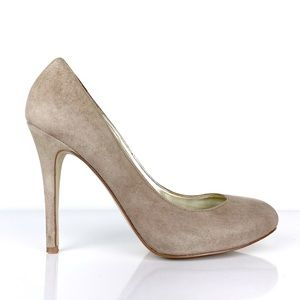 GUESS Taupe Drifter Round Toe Suede Pump